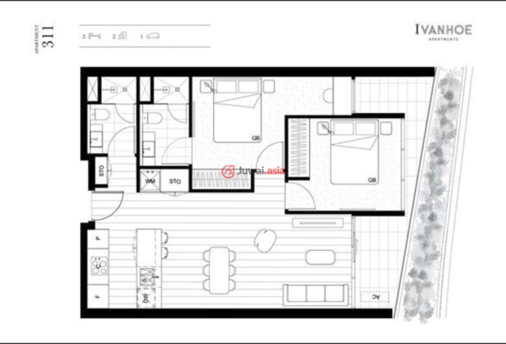 澳大利亚维多利亚州墨尔本的房产,编号27607295